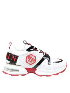 Philipp Plein - Sneakers Hexagon bianche e rosse