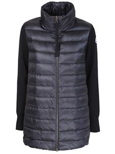 Moncler - Long tricot cardigan in black