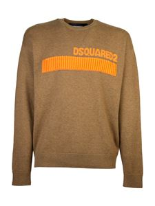 Dsquared2 - Striped knitted pullover in brown