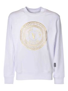 Versace Jeans Couture - Branded crewneck sweatshirt in white