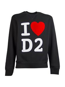 Dsquared2 - I Heart D2 crewneck sweatshirt in black