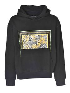 Versace Jeans Couture - Hoodie with front logo in black