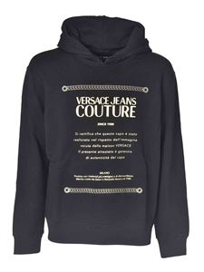 Versace Jeans Couture - Branded hoodie in black