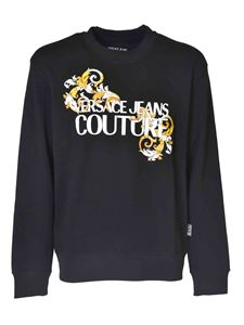 Versace Jeans Couture - Sweatshirt with front logo in black