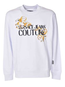 Versace Jeans Couture - Sweatshirt with front logo in white