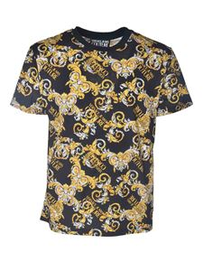 Versace Jeans Couture - T-shirt logo Baroque nera