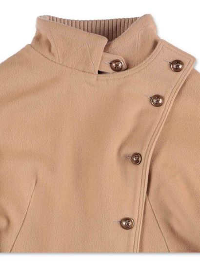 Chloé - Beige cape with buttons