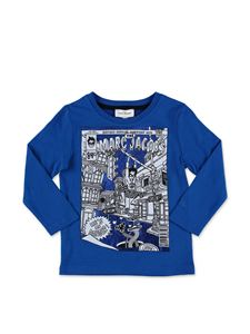 Little Marc Jacobs - T-shirt blu con stampa