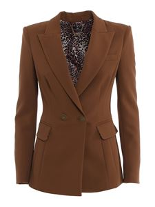 Elisabetta Franchi - Double crêpe suit in brown