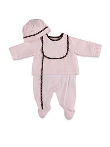 Fendi Jr - Hat bib romper set in pink