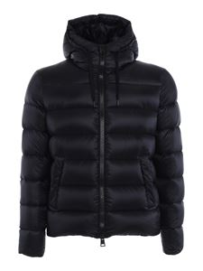 Herno - Quilted tech nylon puffer jacket in black