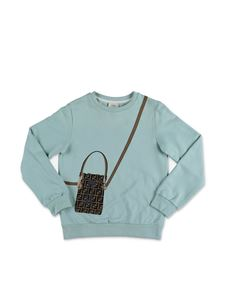 Fendi Jr - Rococo sweatshirt in water green