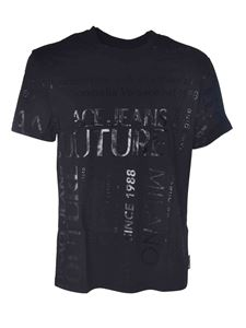 Versace Jeans Couture - T-shirt nera stampata