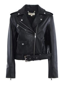 Michael Kors - Leather biker jacket in black