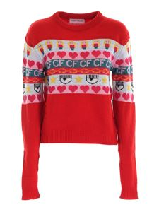 Chiara Ferragni - Norwegian pullover in red