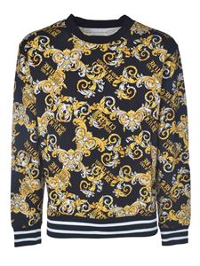 Versace Jeans Couture - Baroque print sweatshirt in black