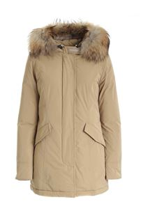 Woolrich - Luxury Artic Parka down jacket in khaki color