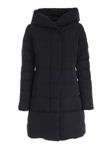 Woolrich - Quilted black down jacket with hood