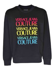 Versace Jeans Couture - Sweatshirt in black with multicolor print
