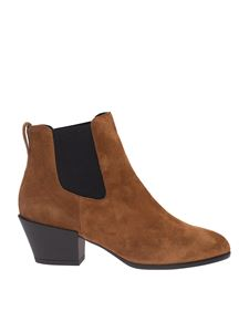 Hogan - Texan ankle boots in brown