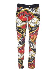 Versace Jeans Couture - Paisley print pants in white and black
