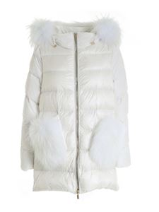 Diego M - Quilted down jacket in white