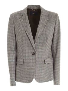 Les Copains - Rhinestones jacket in grey and brown