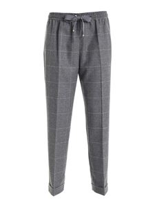 Les Copains - Checked pattern pants in grey