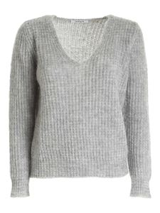 Kangra Cashmere - Sequins ribbed pullover with grey