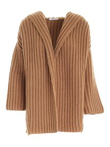 Kangra Cashmere - Hoodie cardigan in camel color