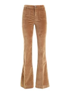 Fay - Flared pants in camel color