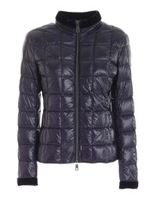 Fay - Quilted down jacket in blue
