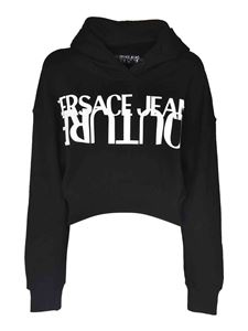 Versace Jeans Couture - Logo crop sweatshirt in black