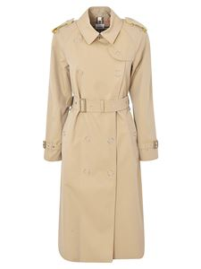 Burberry - Trench color block beige