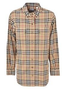 Burberry - Vintage Check oversized shirt in beige