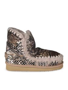 Mou - Eskimo 18 ankle boots with reptile effect
