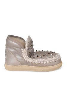 Mou - Eskimo sneakers with studs in beige