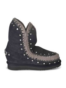 Mou - Ankle boots with rhinestones in black
