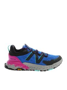 New Balance - Painted effect sneakers in blue and black