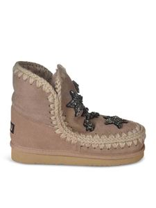 Mou - Eskimo 18 boots with rhinestones in brown