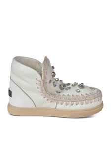 Mou - Mini Eskimo sneakers with rhinestones in white