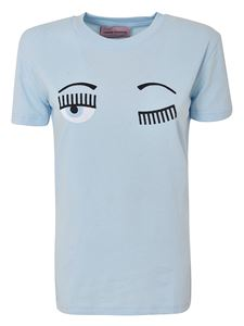 Chiara Ferragni - Flirting T-shirt in Baby Blue color