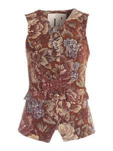 L'Autre Chose - Damask fabric multicolor waistcoat