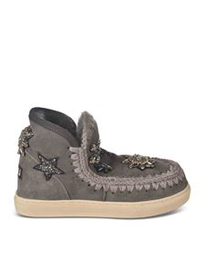 Mou - Eskimo sneakers with stars in grey