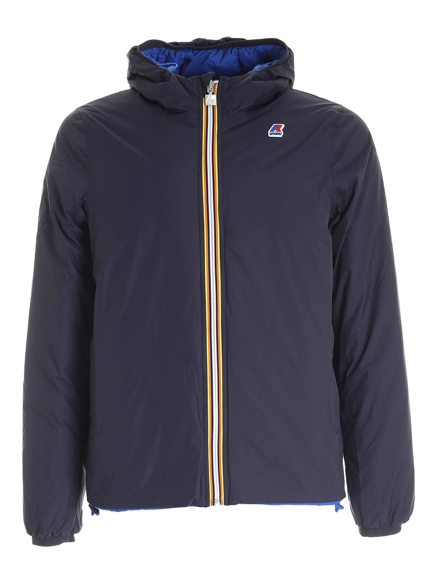 K-Way JACQUES THERMO PLUS 2 DOWN JACKET IN BLUE