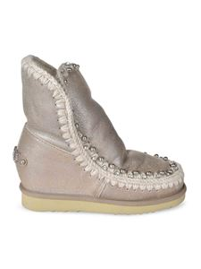Mou - Eskimo ankle boots with rhinestones in beige