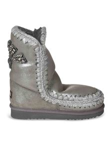 Mou - Eskimo ankle boots 24 in grey lamè