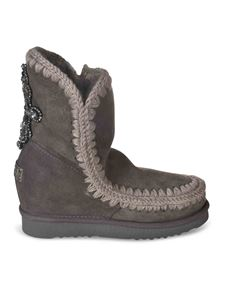 Mou - Ankle boots with rhinestones in grey