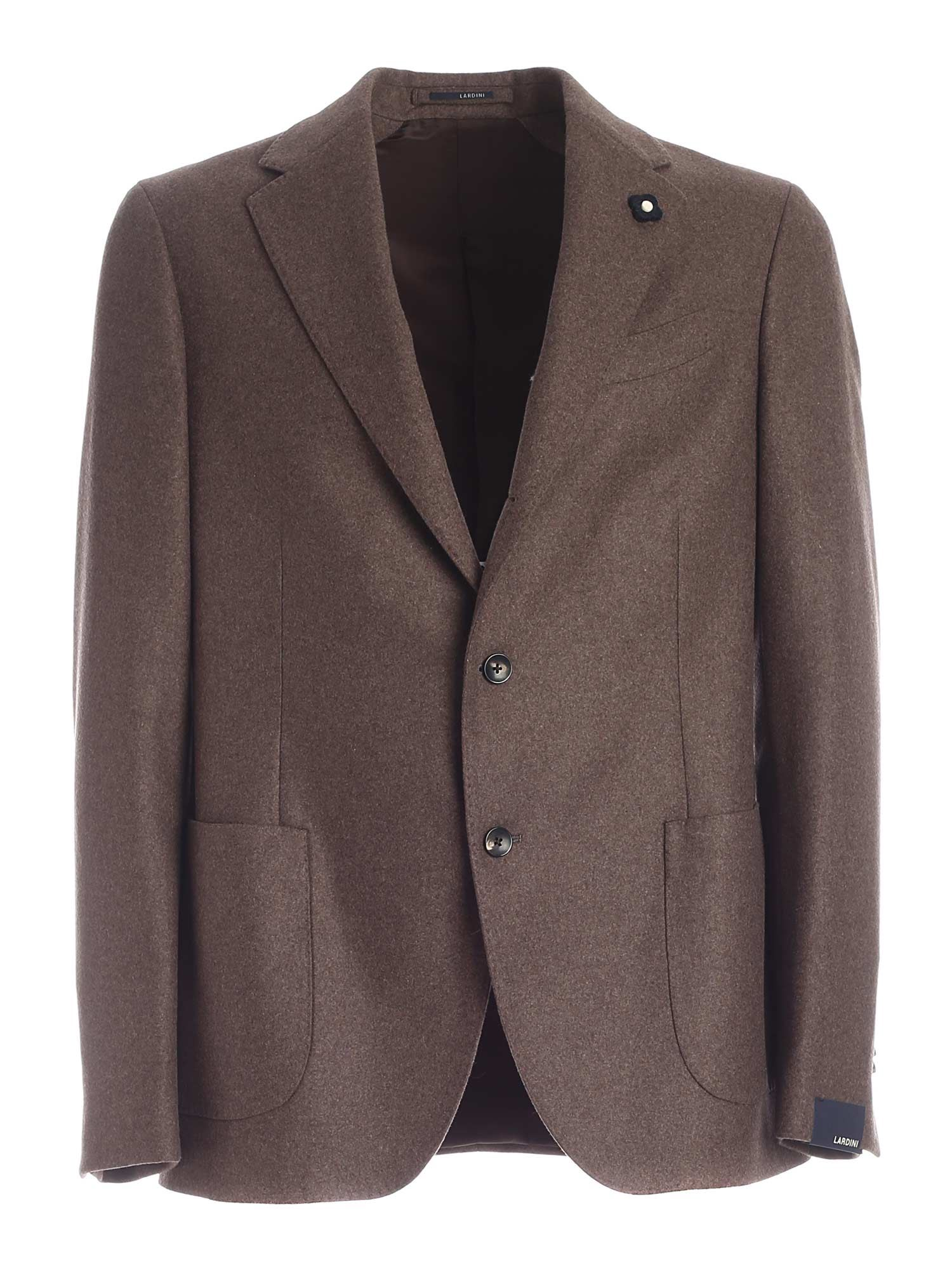 Lardini 3 - ROLL JACKET IN BROWN