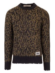 Golden Goose - Animal printed pullover with logo detail